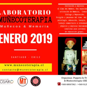 ENERO 2019 Laboratorio de Muñecoterapia: Muñecos & Memoria.